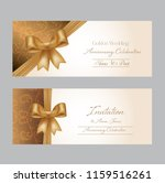 tow pretty wedding invitation... | Shutterstock .eps vector #1159516261
