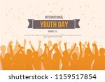 international youth day poster... | Shutterstock .eps vector #1159517854