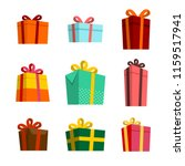 set of gift boxes vector | Shutterstock .eps vector #1159517941