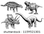 Graphical Set Of Dinosaurs...