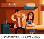 couple man and woman characters ... | Shutterstock .eps vector #1159522537