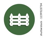 garden fence icon in badge...