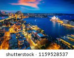 panorama of sydney harbour and... | Shutterstock . vector #1159528537