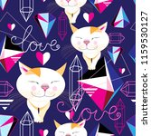 seamless funny pattern of... | Shutterstock .eps vector #1159530127