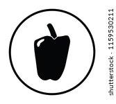 pepper icon. thin circle design....   Shutterstock .eps vector #1159530211