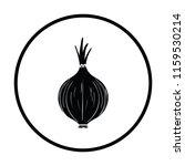 onion icon. thin circle design. ...   Shutterstock .eps vector #1159530214