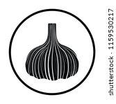 garlic  icon. thin circle...   Shutterstock .eps vector #1159530217