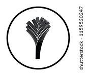 leek onion  icon. thin circle...   Shutterstock .eps vector #1159530247