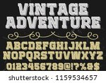 font handcrafted typeface... | Shutterstock .eps vector #1159534657