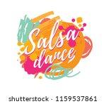 salsa dance vector logotype.... | Shutterstock .eps vector #1159537861