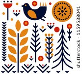 folk art pattern in... | Shutterstock .eps vector #1159538041