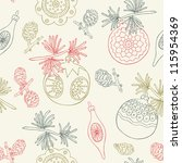 christmas seamless background   Shutterstock .eps vector #115954369
