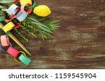 jewish festival of sukkot.... | Shutterstock . vector #1159545904