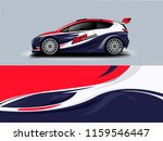car wrap graphic racing... | Shutterstock .eps vector #1159546447