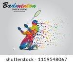visual drawing badminton sport... | Shutterstock .eps vector #1159548067