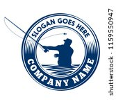 fly fishing logo. vector and... | Shutterstock .eps vector #1159550947