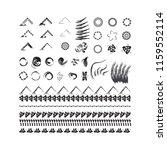 vector textured design elements ... | Shutterstock .eps vector #1159552114