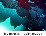 stock market or forex trading...   Shutterstock . vector #1159552984