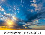 dramatic evening cloudy sky at... | Shutterstock . vector #1159563121