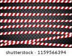 red and white lines of barrier... | Shutterstock .eps vector #1159566394