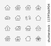 set of house vector line icons. ... | Shutterstock .eps vector #1159566904