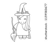 cute cartoon black and white... | Shutterstock .eps vector #1159583677