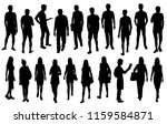vector silhouettes men and... | Shutterstock .eps vector #1159584871