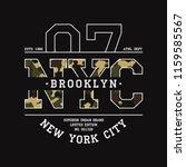 new york  nyc t shirt design... | Shutterstock .eps vector #1159585567