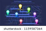 customer journey map  process... | Shutterstock .eps vector #1159587364