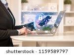 business woman below chest... | Shutterstock . vector #1159589797
