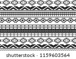 tribal art pattern. ethnic... | Shutterstock .eps vector #1159603564