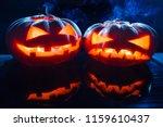 two different halloween...   Shutterstock . vector #1159610437