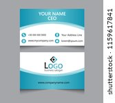 business card design. | Shutterstock .eps vector #1159617841