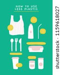 vector poster with reusable... | Shutterstock .eps vector #1159618027