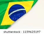 flag brazil  white background...   Shutterstock . vector #1159625197