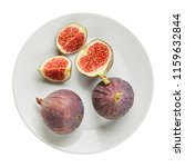 fresh raw ripe figs in ceramic... | Shutterstock . vector #1159632844