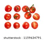 fresh ripe tomatoes isolated on ... | Shutterstock . vector #1159634791