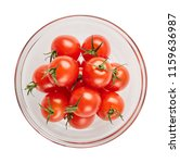 fresh ripe tomatoes in glass... | Shutterstock . vector #1159636987