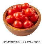 fresh ripe tomatoes in wood... | Shutterstock . vector #1159637044