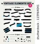 vintage styled ribbons and... | Shutterstock .eps vector #115964041