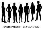 vector silhouettes men and... | Shutterstock .eps vector #1159640437