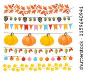 set of cute autumn  fall... | Shutterstock .eps vector #1159640941