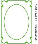 green oval photo frame border... | Shutterstock .eps vector #1159641547