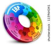 circular puzzle. enterprise... | Shutterstock .eps vector #115964341