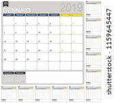 italian calendar template for... | Shutterstock .eps vector #1159645447