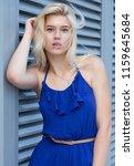 lovely blonde model in... | Shutterstock . vector #1159645684