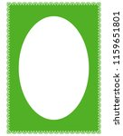 green oval photo frame border... | Shutterstock .eps vector #1159651801