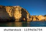 algarve seashore and caves.... | Shutterstock . vector #1159656754