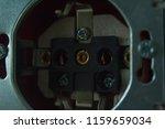 disassembled power socket.... | Shutterstock . vector #1159659034