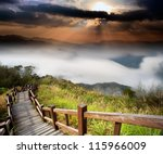 amazing sunrise and mountain | Shutterstock . vector #115966009